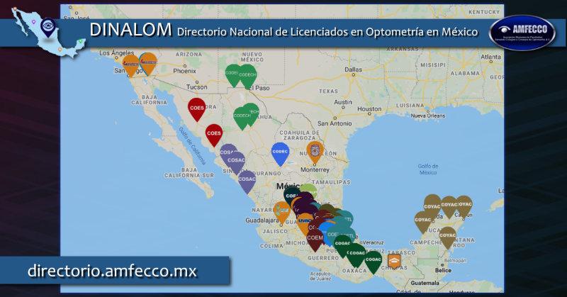 Directorio Nacional de Licenciados en Optometría de México